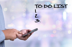 TO DO LIST  Organization Management Royalty Free Stock Photo