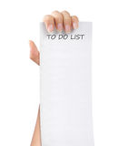 To do list paper note Stock Images