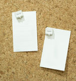 To do list pin on cork board,doit or later,bubble pin Stock Image