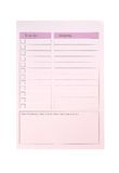 To do list and shopping, pink paper Stock Images