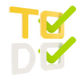 To do list, tick in check box isolated Stock Photos