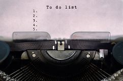 To do list stock images