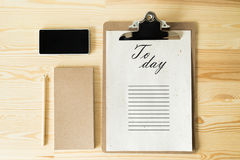 To do list today Stock Photography
