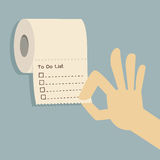 To do list on toilet paper Stock Photos