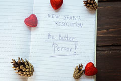 "To Do List transformed into New Year""s resolutions .  Toning Royalty Free Stock Images"