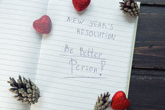 "To Do List transformed into New Year""s resolutions .  Toning Royalty Free Stock Photos"
