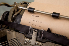 To do list typed on the typewriter Royalty Free Stock Image
