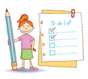 To do list. Vector illustration Royalty Free Stock Photos
