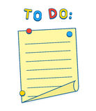 To Do List on whiteboard or fridge with magnets Stock Images
