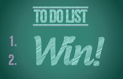To do list win concept illustration design Stock Photography