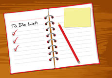 To do list wood Stock Photos