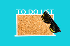 To do list wooden board on light blue background Stock Photo