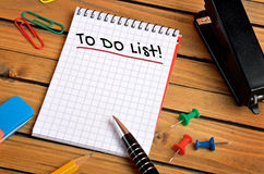 To do list word Royalty Free Stock Image