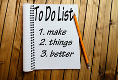 To do list word. On notepad Stock Photography
