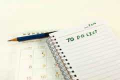 To do list 2014 Royalty Free Stock Photography