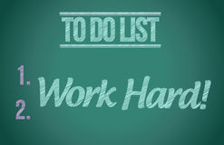 To do list work hard concept illustration design Royalty Free Stock Photo