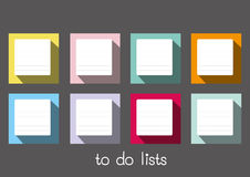 To do lists blank long shadow Royalty Free Stock Photos