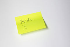 To-do Motivational post-it. Motivational post-it with white background Stock Photo