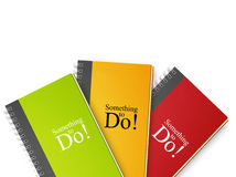 To do notebook. Small notebooks isolated on white, something to do stock photography