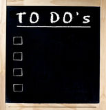To Do s on Chalkboard Royalty Free Stock Photos