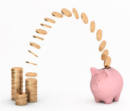 To do savings. To transfer money for savings Royalty Free Stock Photography