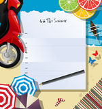 To do this summer. List collage Stock Images