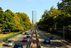 To downtown Boston Stock Photography