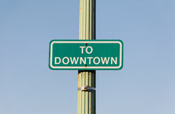 To Downtown Stock Photography