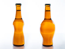 To Drink beer fattening or slimming? Stock Images