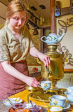 To drink tea from Russian samovar Royalty Free Stock Images
