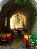 To eat in Italy. Is culture. We are famous in the world for our Mediterranean kitchen. In Italy exist also magic places , for example you can  eat in a medieval Stock Photos