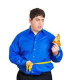 To eat or not pizza, that is the question Royalty Free Stock Photo
