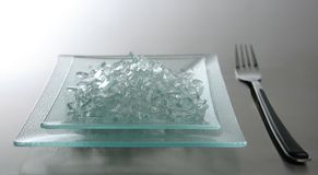 To eat today we have broken glass royalty free stock photography