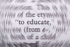 To Educate. The words to live by. Education of our young is our future Royalty Free Stock Photos