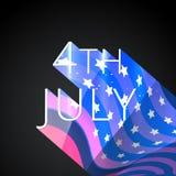 4to elegante del fondo de julio stock de ilustración