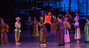 """To exchange gifts-Dance drama """"The Dream of Maritime Silk Road"""". Dance drama """"The Dream of Maritime Silk Road"""" centers on the plot of two Stock Image"""