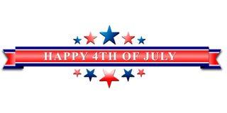 4to feliz del jefe del Día de la Independencia de julio los E.E.U.U. o del fondo de la bandera Fotografía de archivo