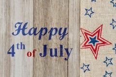4to feliz del saludo de julio fotos de archivo libres de regalías