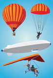 To fly. Vectorial image of flying facilities Royalty Free Stock Photos
