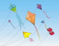 To fly a kite Stock Image