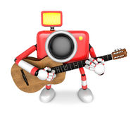 To the front toward the red Camera Character playing the guitar. Royalty Free Stock Photos