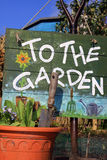 To The Garden Stock Images