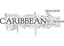 When To Get Cheap Deals In The Caribbean Word Cloud Royalty Free Stock Photos