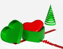To gift your heart,christmas Royalty Free Stock Photos