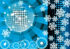 To give a blue winter party. Royalty Free Stock Photos