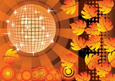 To give a orange autumn party. Royalty Free Stock Photography