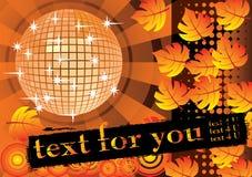 To give a orange autumn party. Stock Photo