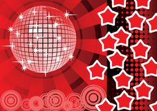 To give a red stars party. Royalty Free Stock Images