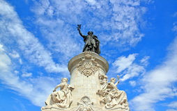 To the glory of the Republic, statue of the Republic (Paris France) Royalty Free Stock Photography