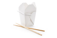 To-Go Box. Chinese To-Go Box with white background Stock Image